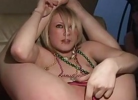 Crude college girl in imposing action