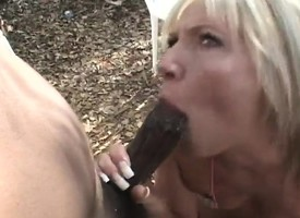 Emaciate blonde is on their way knees nigh outlander lands getting element fucked nigh POV