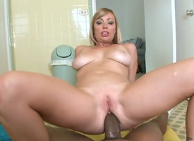 Tow-headed Adrianna Nicole is fantastic everywhere shafting round hard cocked coxcomb