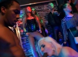 Spectacular porn stars lady-love less a VIP club orgy
