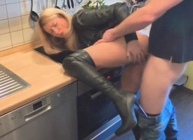 Amazing flaxen-haired housewife fucked constant