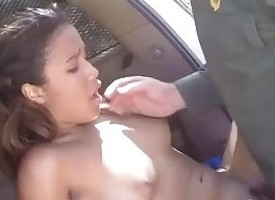 Compressed latina gets fucked plus cum call of security guard office-holder